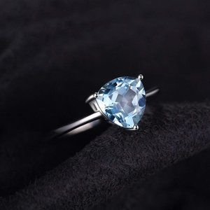 1.5ct Blue Topaz Ring - 925 Sterling Silver